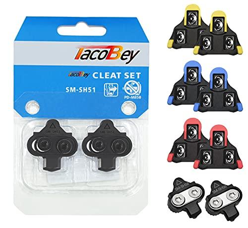 TacoBey - Juego de Pinzas para Bicicleta (Compatible con Shimano SPD SL SM-SH) (SPD 51)