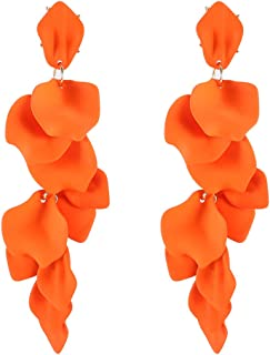 large flower earrings