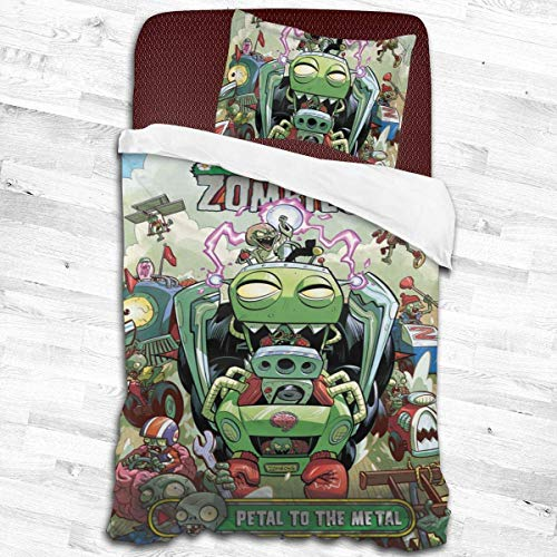 peitie104 Duvet Cover Sets Pla-NTS Vs Zom-bies Game Lightweight Dorm Decorative Theme 2-Piece Twin Bedding Set with 1 Pillow Shams 53