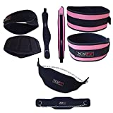 XXR Pro Neoprene Weight Lifting and Neoprene Dipping Belt Body Building Exercise (Pink-Black, Xl)