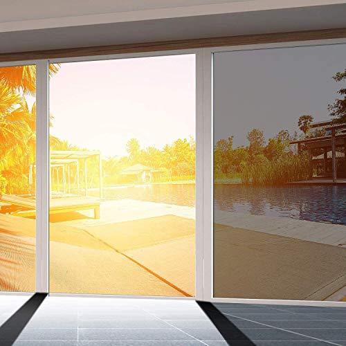 Anecity - Película Reflectante para Ventana con Espejo de una Sola vía, Control Solar, película de privacidad para Ventana, 50 x 400 cm, para Oficina en casa, con Cuchillo y rasqueta