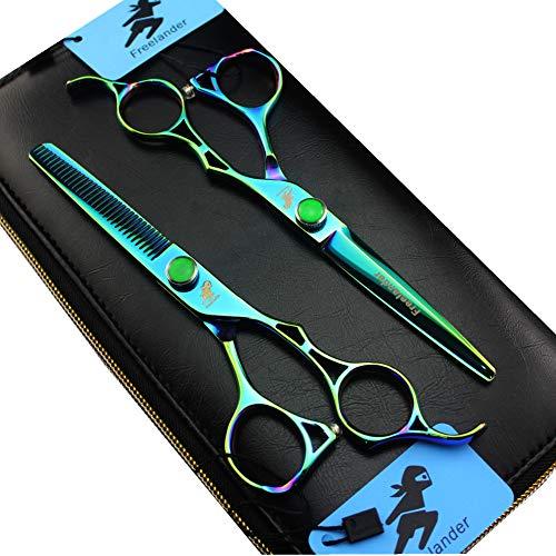ROCOCOTijeras profesionales japonesas 440C para corte de cabello de 6 pulgadas -...