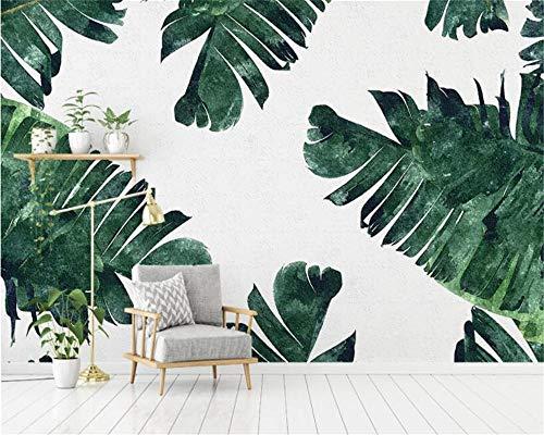 Nomte Aangepaste Behang Zuidoost-Azië Handgeschilderde Banaan Blad Plant Foto Achtergrond Muur Muren Zijde Doek 3D Behang 300x210cm