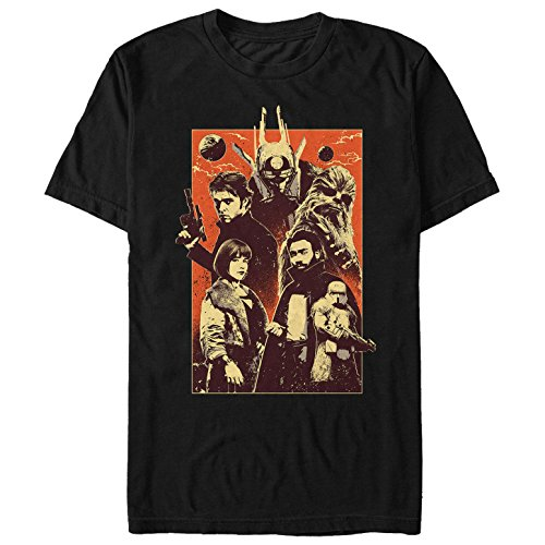 Solo: A Star Wars Story Men's Character Pose Grunge Print Black T-Shirt