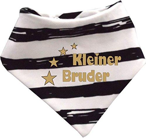 KLEINER FRATZ Baby Halstuch Sommer Stripes (Farbe schwarz-weiss) (Gr. 2 (74-98) Kleiner Bruder