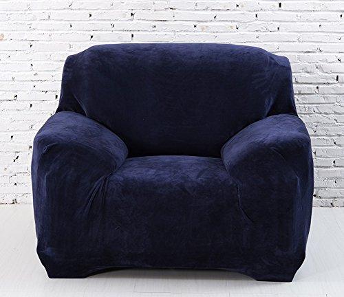 Copridivano in spesso velluto elastico, fodera protettiva da divano, aderente e facile da mettere, in tessuto elasticizzato