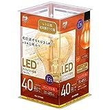 アイリスオーヤマ LED電球 フィラメント 口金直径26mm 40W形相当 キャンドル色 全配光タイプ レトロ風琥珀調ガラス製 LDA4C-G-FK