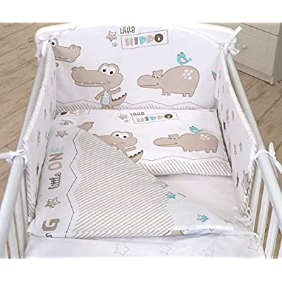 2 Piece Set Bedding cotbed Mattress Size 120x60 140x70 Infant Travel cot 120x90 Baby Bedtime Owls Birds Yellow boy Girl Unisex cot Bed Duvet Cover Pillow case Made in UK 100/% Cotton