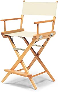 Telescope Casual World Famous Counter Height Director Chair, Natural with Varnish Frame