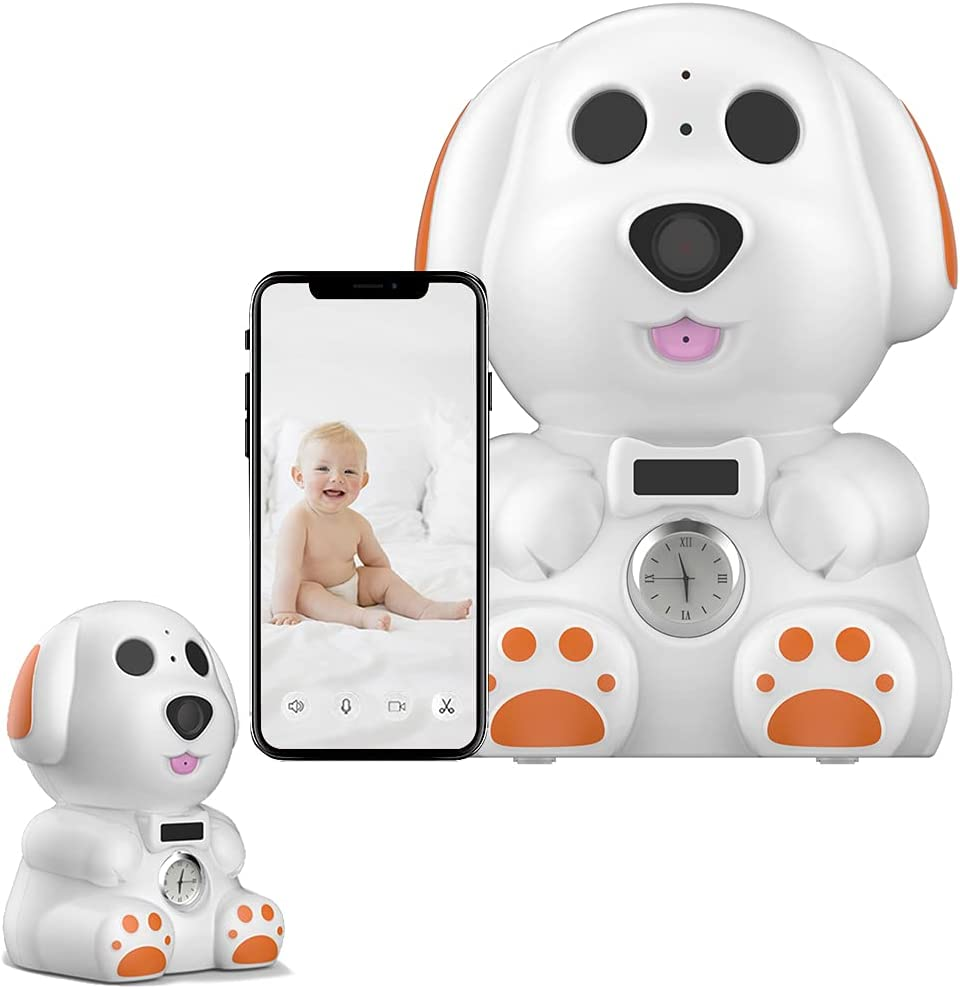 FUVISION Baby Monitor,Wireless Security Camera, IP Camera 1080P HD, WiFi Home Indoor Camera for Baby/Pet/Nanny, Motion Detection, 2 Way Audio Night Vision, Works with SD Card Slot or Cloud Dog (White)