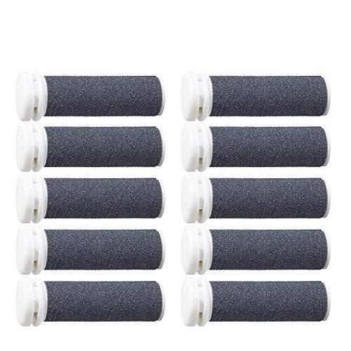 Mineral-Ersatzrollen, 10 Stück, kompatibel mit Emjoi Micro Hornhautentferner für extrem raue und harte Haut