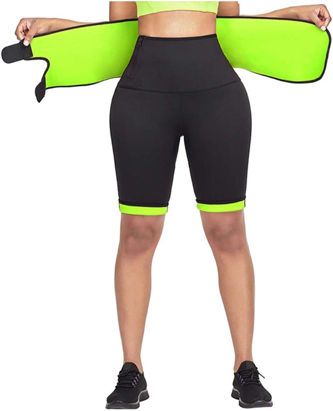 Women Workout Compression Sauna Shorts in with Built Train Finally popular Inexpensive brand Waist