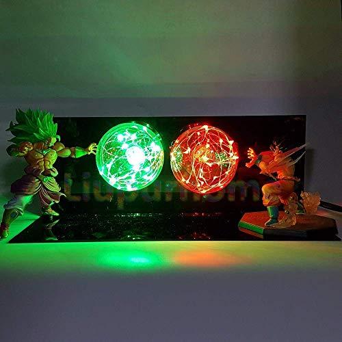 KAKALIN Dragon Ball Z Goku & Brolly Power Up Led Light Lamp Whole Set Gift Toys for Xmas image