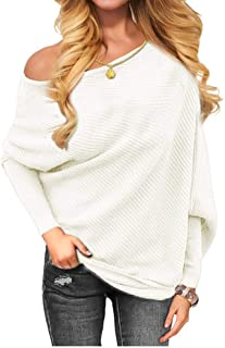 Othyroce Women's Off The Shoulder Sweater Pullover Sweaters Fashion Sweatshirts for Women