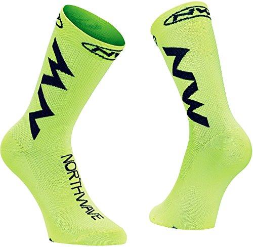 Northwave Extreme Air Fahrrad Socken gelb/schwarz 2021: Größe: M (40-43)
