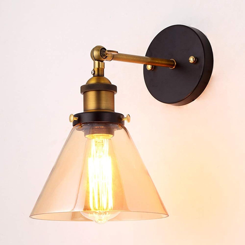 mejor calidad mejor precio AmzGxp Vintage Loft Light Light Cafe Cafe Cafe Restaurante Dormitorio Lámpara de parojo de vidrio para interiores Hermosa (Color   marrón)  las mejores marcas venden barato