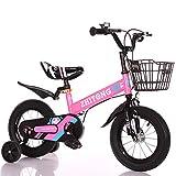 Triciclo Bebé Trike Bicicleta para Niños Bicicletas Estaticas BH con Estructura de Acero de Alto Carbono, Adáptese a Topes de Velocidad, Caminos de Grava,Pink,14'