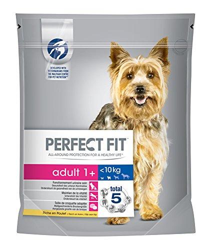 Perfect Fit hondenvoer droog voedsel volwassenen voor kleine honden <10 kg 1+ rijk aan kip, 5 Beutel (5 x 0,825 kg)