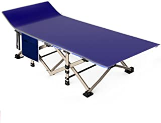Loungers Camping Bed Accompanying Bed Outdoor Folding Bed Single Bed Home Adultbed Simple Bed 190 * 67 * 35cm (Color : Blue)