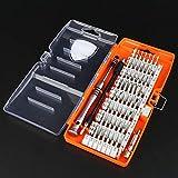 Juego de destornilladores, Juego de destornilladores de acero Precision S2 58 en 1, Kit de herramientas de reparación electrónica para PC, teléfonos inteligentes, otros dispositivos electrónicos