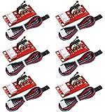 WJMY 6 Pièces Interrupteur de Fin de Course Mécanique End Stop pour l'imprimante 3D RepRap Prusa Mendel CNC Arduino Mega 2560 RAMPS 1.4