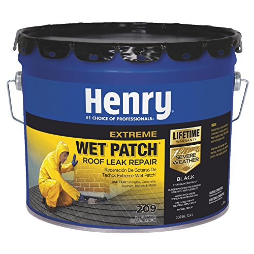 Henry HE209061 3.3 Gallon Black Extreme Wet Patch 209 Roof Leak Repair