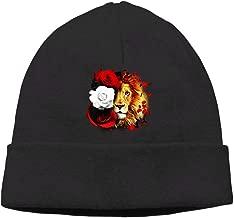 Oopp Jfhg Lion Rose Beanie Knit Hat Ski Caps Mens