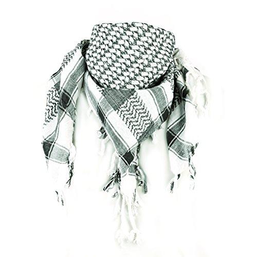 Niki De Orange® Touche écharpe, palestiniens dans de Nombreuses Couleurs et Styles, Femme Homme, Dot Weiß/Schwarz