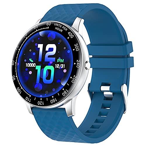 APCHY Smart Watch,Rastreador De Fitness De 1.3 Pulgadas con Monitoreo Fisiológico Femenino Monitor De Oxígeno De Presión Arterial De Frecuencia Arterial, Sin Cronómetro,Azul