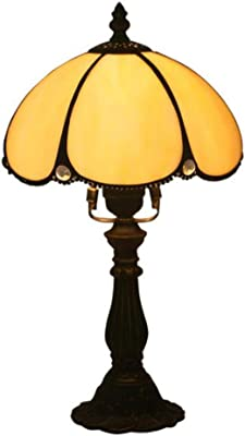 Hobaca® 12 pulgadas de vidrio ámbar Tiffany lujo antiguo ...