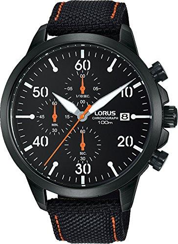 Lorus Herren Chronograph Quarz Uhr mit Leder Armband RM347EX9