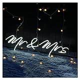 Gn shop Decoración de Boda Neon Light Signs MR & Mrs, Decoraciones de la Pared Personalizadas LED Flexible para el Club de la habitación Decoraciones de la Fiesta de cumpleaños Signo de la Tienda