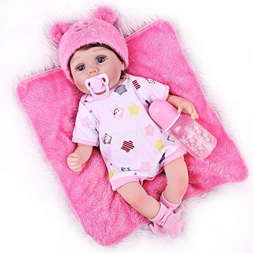 CHAREX Reborn Baby Dolls,18 Inch Reborn Baby Girl, Lifelike Realistic Weighted Reborn Newborn Soft Silicone Vinyl Body Reborn Doll for Age 3+ -  X1619068Q