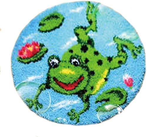 YINSY DIY Latch Hook Kits Rug Making Crafts Embroidery Carpet Set, 20' X 20',Frog