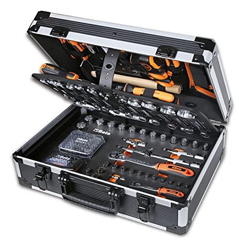 Beta Tools Beta 2056E I-20 Attrezzi, Valigia Porta Utensili, giraviti, combinate, Bussola, Set Chiavi esagonali, 163 Pezzi