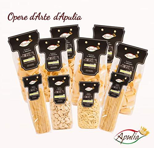 Pasta Apulia Confezione da 5 Kg di Pasta di Semola di Grano Duro Trafilata al Bronzo. Formato Seciale - 100% Italiano