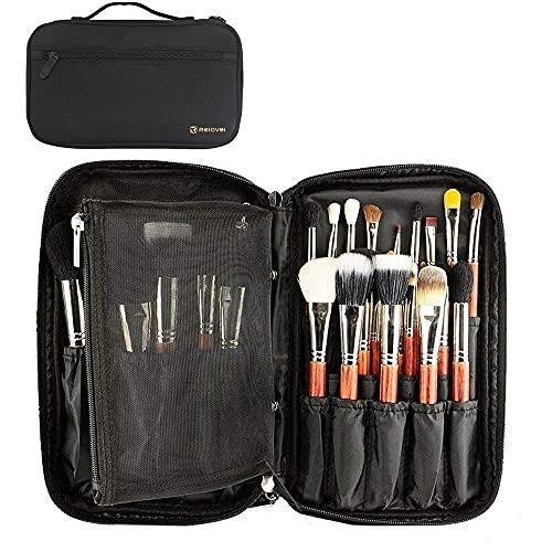Custodia per pennelli da trucco, borsa trasparente per pennelli da make-up, organizer impermeabile, TYPE-2 (Nero) - TC0379-TM