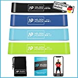 Heldenpower® Sport Fitness Band – 4 Power Fitnessbänder Set inkl. Profi-Videoanleitung - Fit von...