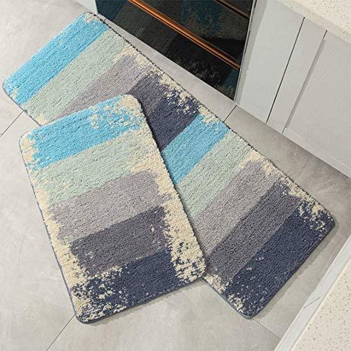 LHJY Home Geometrische Küchenbodenmatte, Polyesterfasermaterial Badematte, Geeignet Für Küche/Badezimmer/Einstiegsport 45x70cm -Support-Anpassung(Size:45x70cm(17.7x27.5in),Color:A2)