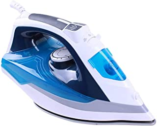 JINRU 2200-Watt Steam Iron, Double-Layer and Ceramic Coated Soleplate, Auto-Off, 3 Preset Temperature and Steam Settings for Variable Fabric