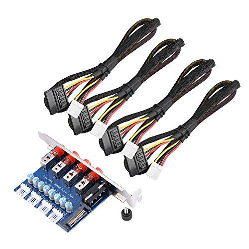 VBESTLIFE Festplatten Power Switch Modul für SATA 15P / IDE-Schnittstellen (120 mm) mit voller Bauhöhe Erweiterungsposition Optisches Laufwerk. Schalten Sie die Festplatten als Wunsch