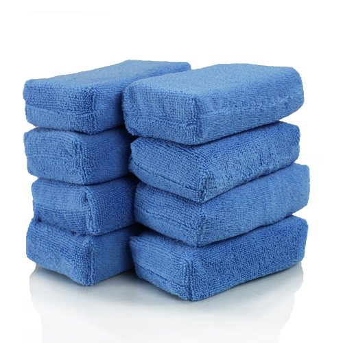 Chemical Guys MIC_292_08 Premium Grade Microfiber Applicators, Blue (Pack of 8)