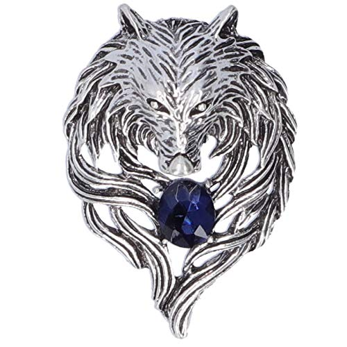 Huairdum Broche, Broche de Cabeza de aleación de Zinc para la Familia para la Novia(Silver)