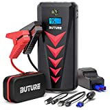 BUTURE 2000A Car Jump Starter, 22000mAh Lithium Car Battery Charger (8.0L Gas/8.0L Diesel) Portable Quick-Charge Jump Starter Battery Pack with Starting in Car Tech, LCD Screen, Cigarette Lighter
