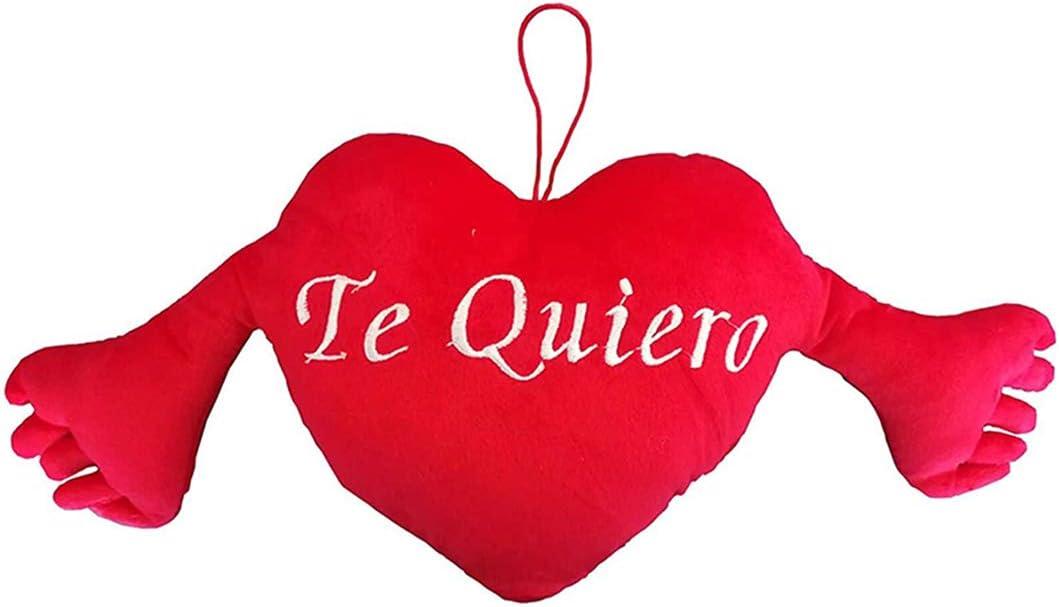 TE Quiero Peluche Te Quiero Coj/ín Almohada San Valent/ín Enamorados Parejas Regalos Originales con Brazos