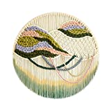N/Z Home Equipment Woven Wall Baskets Wall Hanging Tassel Wall Art Home Tapestry Wall Art Home Wall Decor (Size : 103cm)