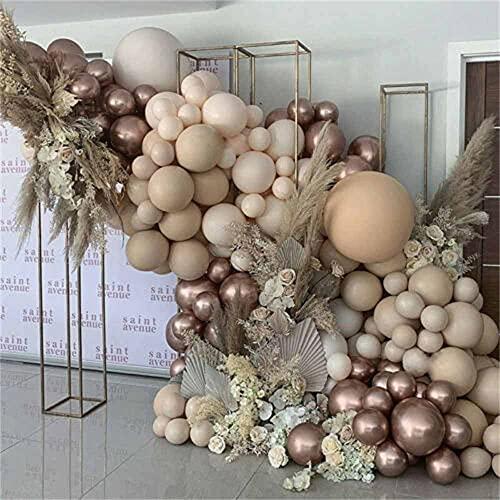 Kit de arco y guirnalda, albaricoque champán, crema de globo, guirnalda, decoración de boda, fiesta de bebé