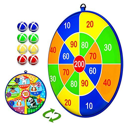 COOPCTE Juegos Deportivos para niños, Tablero de Dardos para niños con 8 Bolas Adhesivas, Regalo de Juguete clásico y Seguro para niños y niñas de 3 años en adelante (13,2 Pulgadas / 33,5 cm)