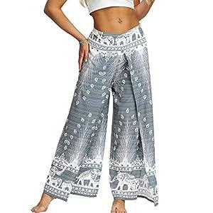 TIANNBU Pantalones de yoga para mujer, con ajuste holgado, estilo bohemio, para pilates | DeHippies.com