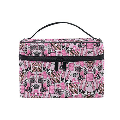Cose Di Bellezza Rosa Trousse Sac de Maquillage Toilette Cas Voyage Sac Organisateur Cosmétique Boîtes pour Les Femmes Filles
